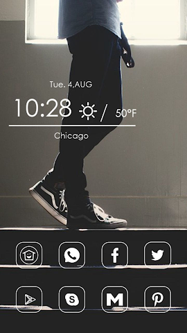 android Blue Jeans Theme Screenshot 0