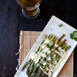 Roasted Asparagus with Beer Béarnaise Sauce