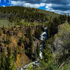 Undine Falls by Thomas Jones - Landscapes Waterscapes ( undine falls, yellowstone national park, wyoming, waterfall, infinity prime photography )