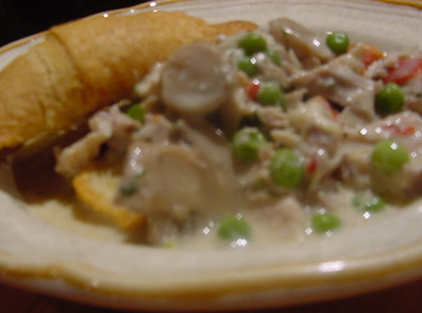 Chicken Or Turkey Ala King Over Biscuits Recipe
