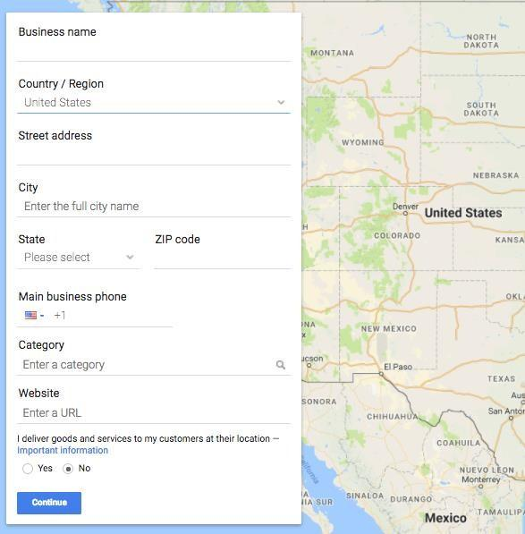 google maps in google my business snap