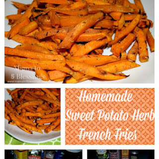 Homemade Sweet Potato Herb French Fries.