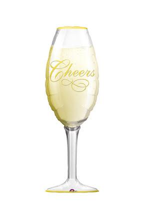 Folieballong, champagneglas