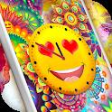 Emoji Clock Live Wallpaper Free 😍 Neon Wallpapers icon