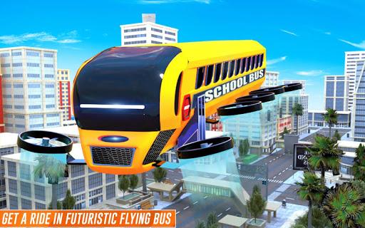 Flying School Bus Robot: Hero Robot Games 12 screenshots 9