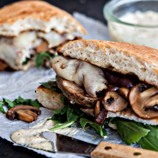 Roasted Pork Sandwich with Caramelized Onions and Mushrooms Recipe