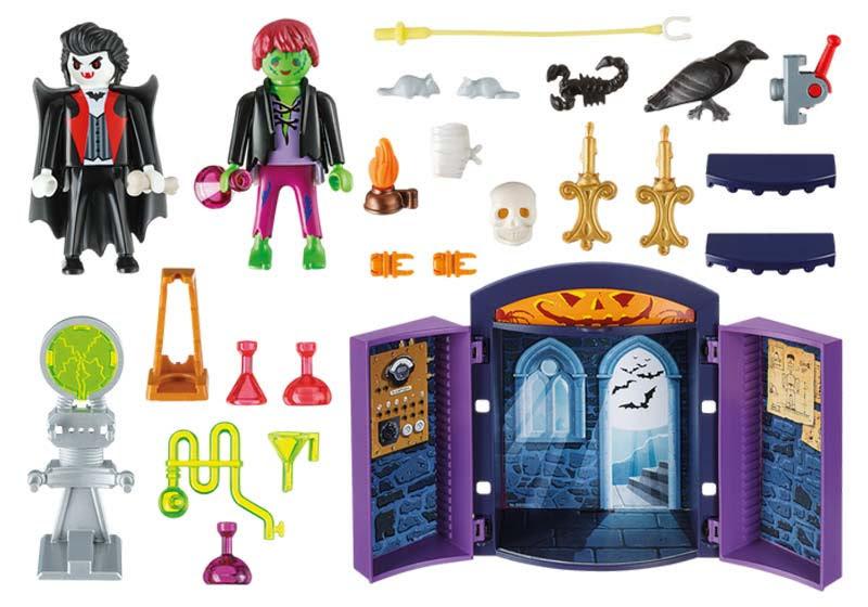 Contenido real de Playmobil® 5638 Cofre Casa Encantada