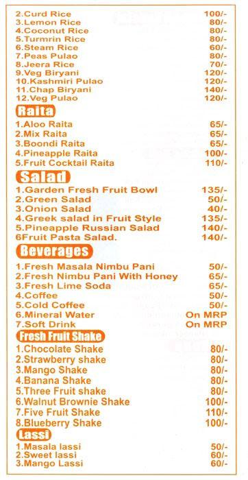 Vrinda's Food menu 4