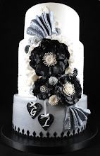 Photo: Stirling, Black and White Engagement Cake by Little Acre Cake Maker  (3/16/2012) View Cake Details Here: http://cakesdecor.com/cakes/9318