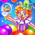 circus clown bubble icon