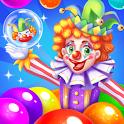 circus clown bubble icon