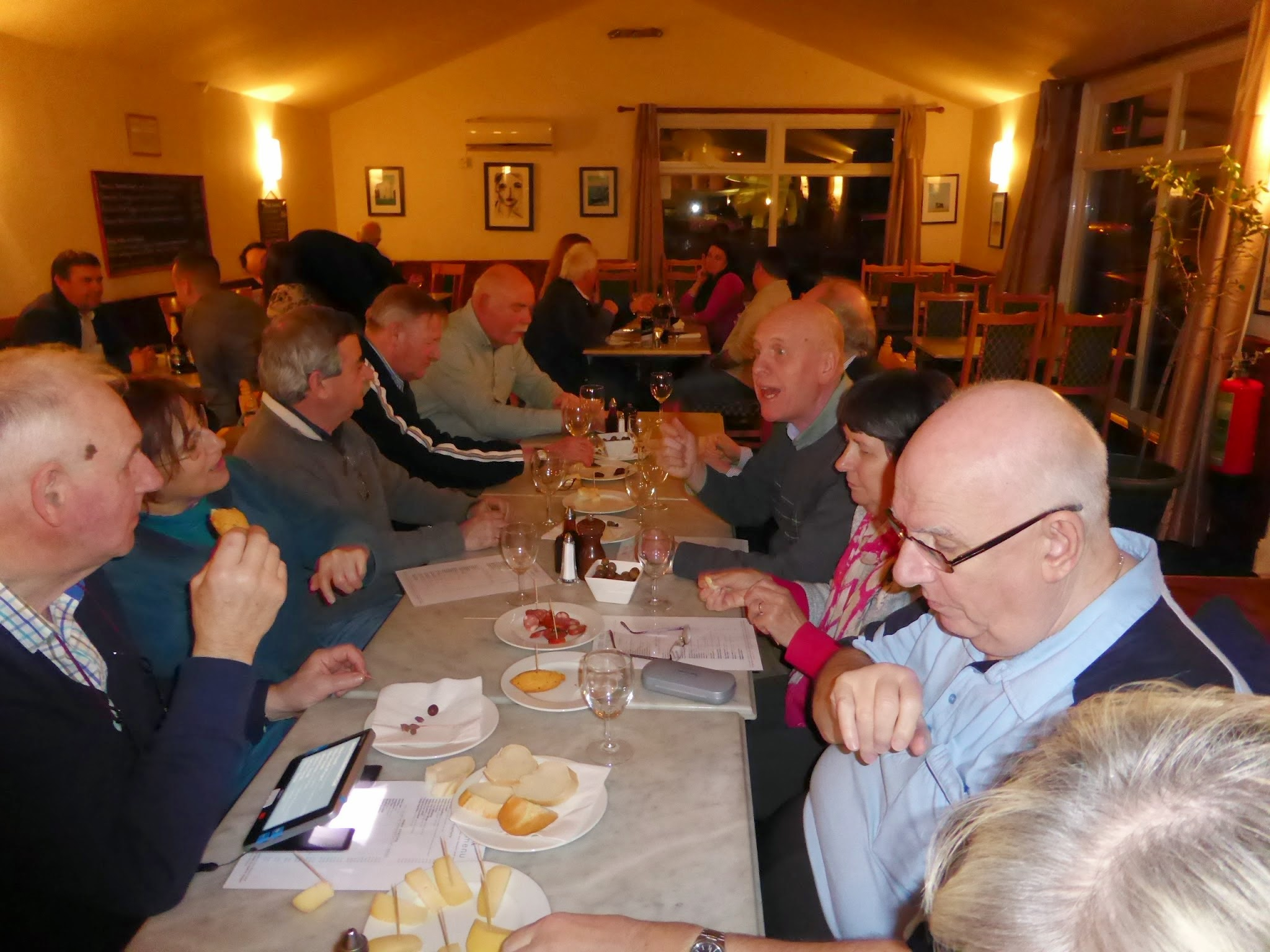 Photo: Dinner at Simon's Place, on the eve of the AGM