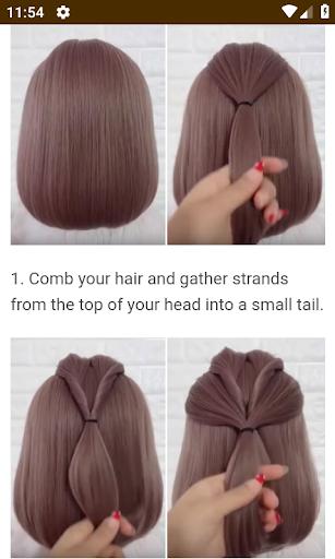 Hairstyles for short hair screenshot 5