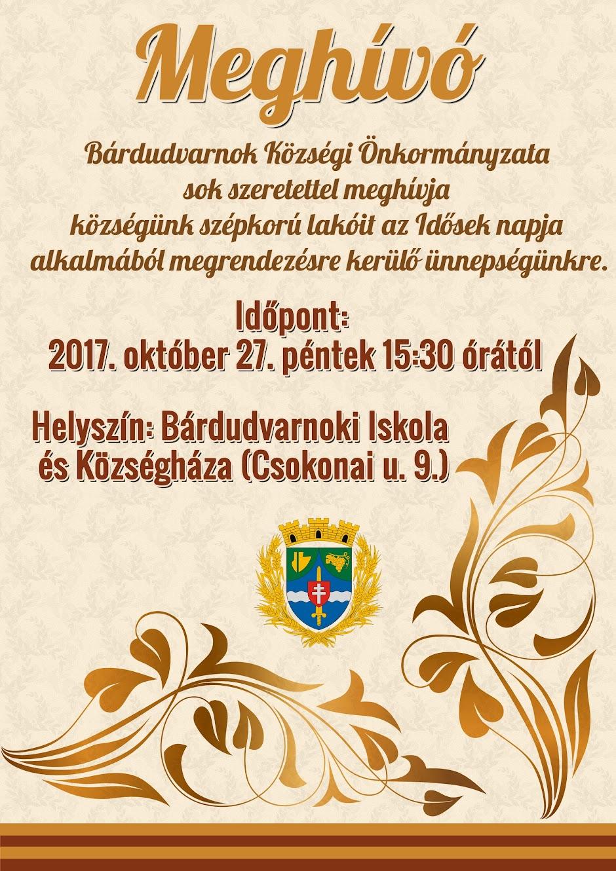 Idősek Napja meghívó 2017