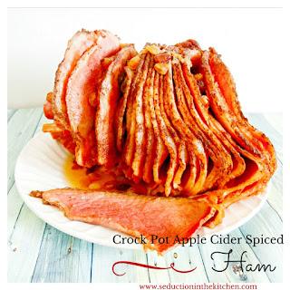 Crock Pot Apple Cider Spiced Ham.
