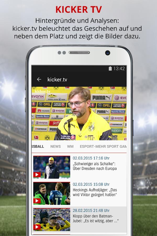 kicker Fußball News - screenshot