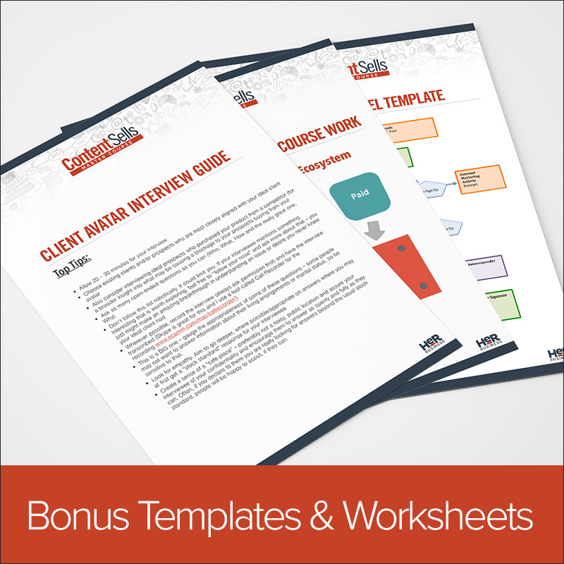 Bonus Templates and Worksheets