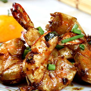 Cantonese Style Pan-fried Shrimps.