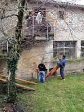 Photo: Transfert du métier à tisser, depuis En Calcat, Dourgne.