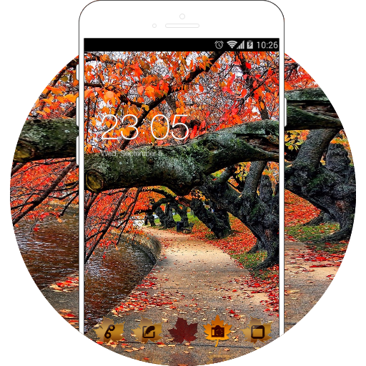 Autumn Red Leaves Wallpaper Theme HD