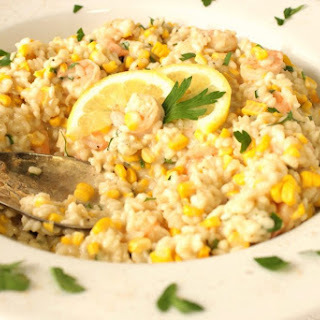 Creamy New England Sweet Corn Risotto with Shrimp