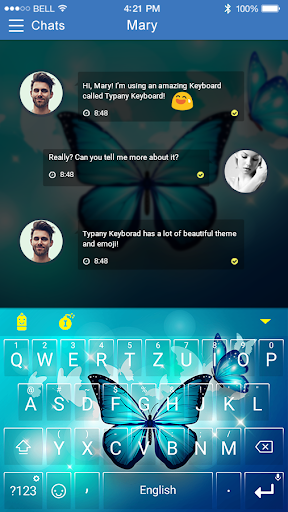 mod Luminous Butterfly Emoji Theme 4.5 screenshots 2
