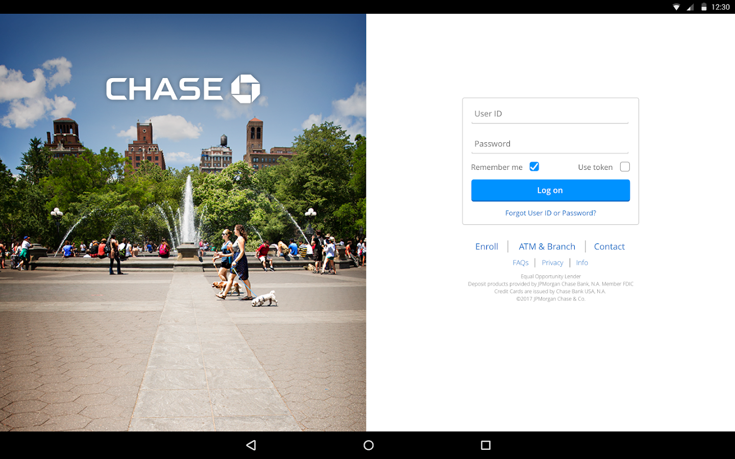 Screenshots of Chase Mobile for iPhone
