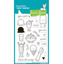 Lawn Fawn Clear Stamps 4X6 - Heres The Scoop