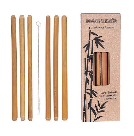 Bambu Sugrör 6 st