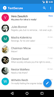 Screenshot of TextSecure Private Messenger