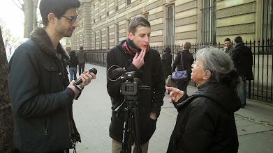 Photo: Les journalistes en prise de vues...