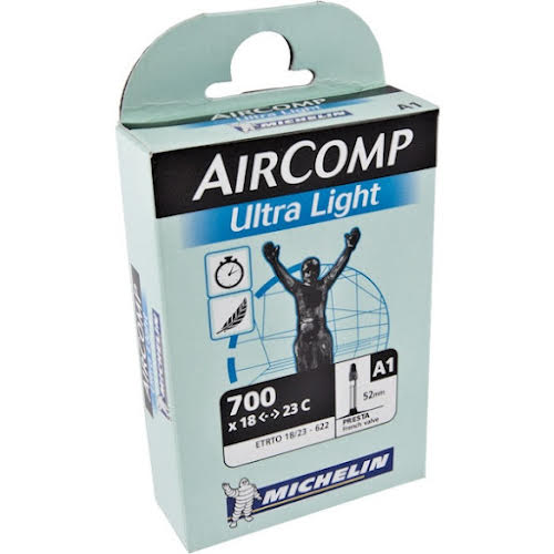 Michelin AirComp Ultra Light Tube, 700x18-23mm 52mm Presta Valve