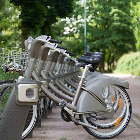 Vélib by Jean-marc Payet - City,  Street & Park  Street Scenes ( velib, vélo, location, vélib, bicyclette, bicycle )