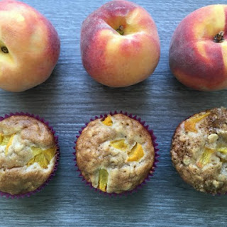 Snack Time Honey and Oat Peach Muffins.