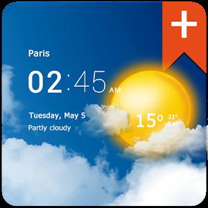 Transparent clock weather Pro