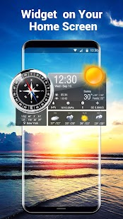 World Clock Weather Widget & Compass - náhled