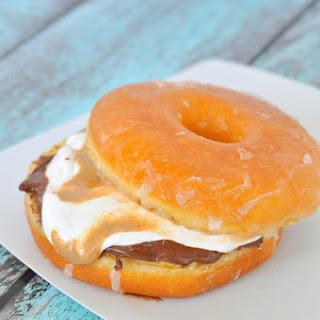 Peanut Butter Nutella Donut Sandwich