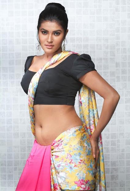 Rhythamika in saree, Rhythamika navel photos