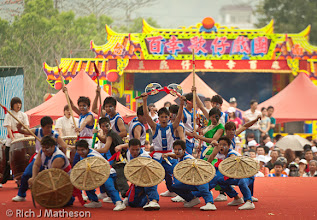 Photo: Long Hua College Competes in the Creative Song-Jiang Jhen Contest, College Cup in Neimen, Kaohsiung City, Taiwan