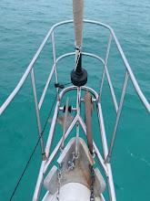 Photo: motoring across the Bahama Banks towards the Berry Islands