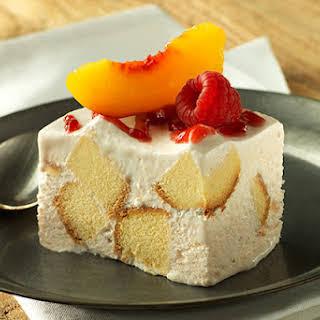 Frozen Peach Shortcake Squares.