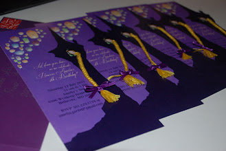 Photo: Rapunzel tower invitations for the party