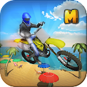 Crazy Beach Bike Stunts Sim 3D icon