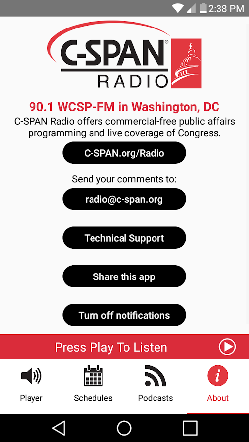 C-SPAN Radio- screenshot