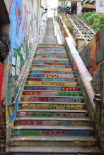 Photo: First of many stairs in Valparaiso