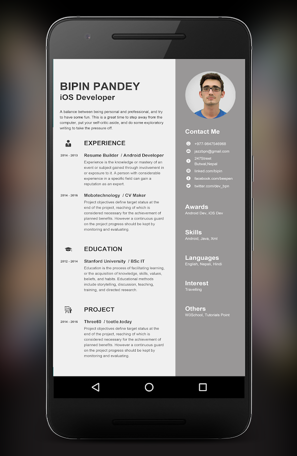 resume builder app android apps on google play