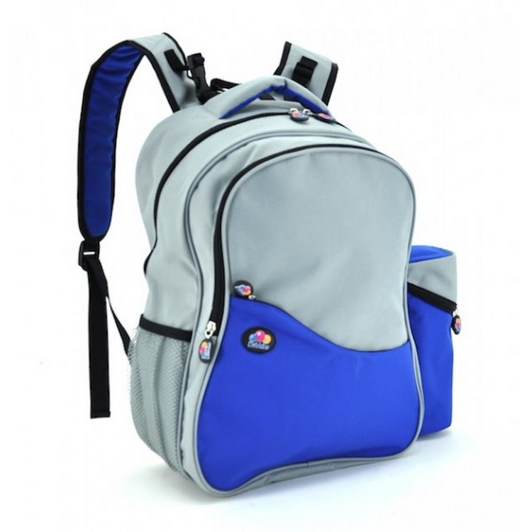 Bubbles Aiden Blue/Grey Diaper Backpack by GREEN WHEEL INTERNATIONAL SDN BHD