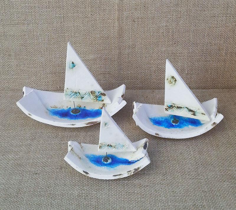 βάρκα με πανί κεραμική