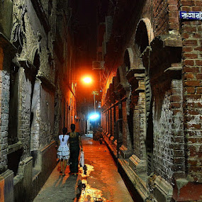 Down the memory lane  by Sayan Bhattacharya - City,  Street & Park  Historic Districts ( street, places, historical, culture )