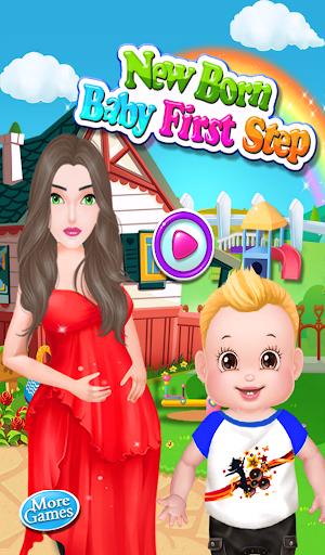 Newborn Baby First Steps